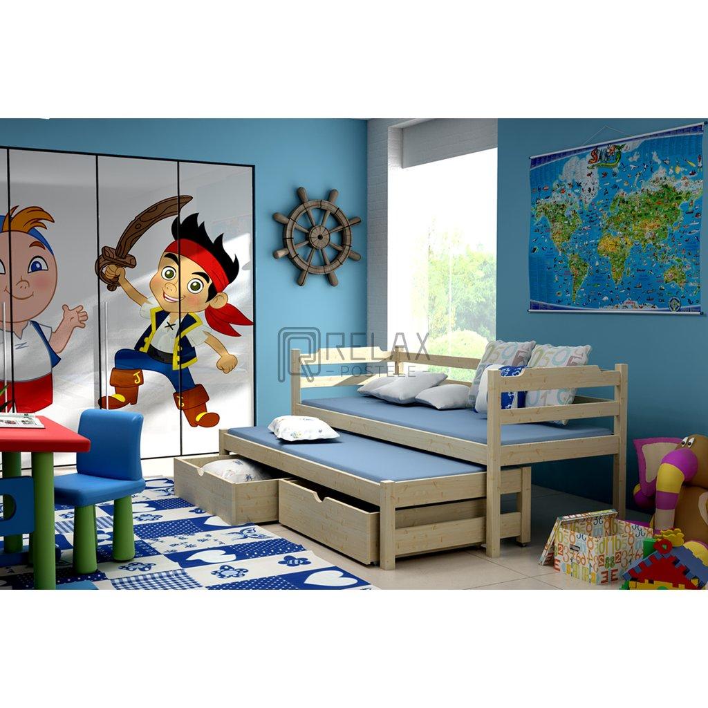 Dětská postel s přistýlkou Maria