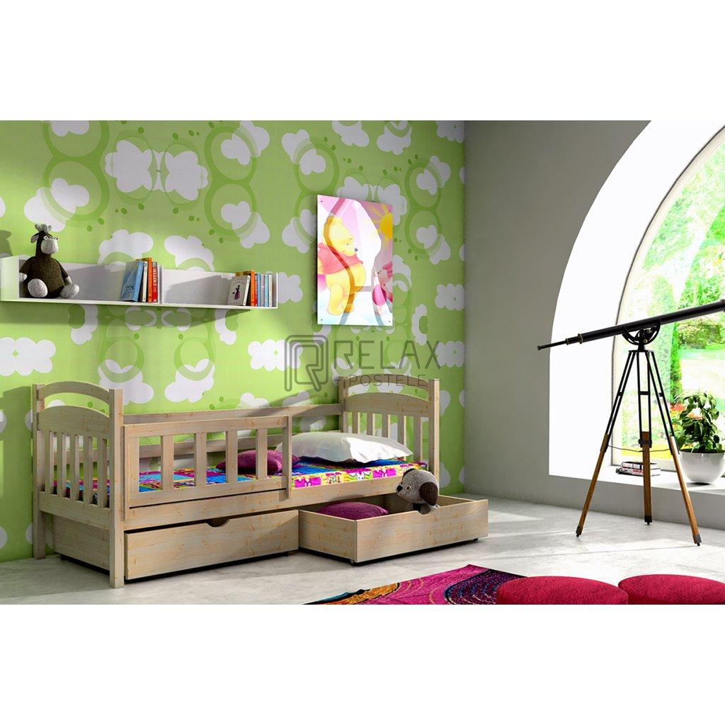 Dětská postel s úložným prostorem Kubuš 2