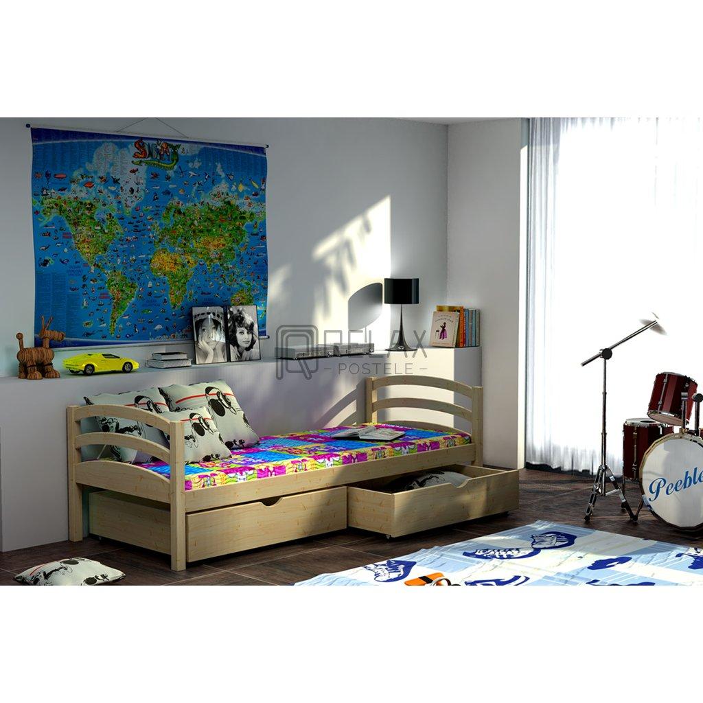 Dětská postel s úložným prostorem Tornádo