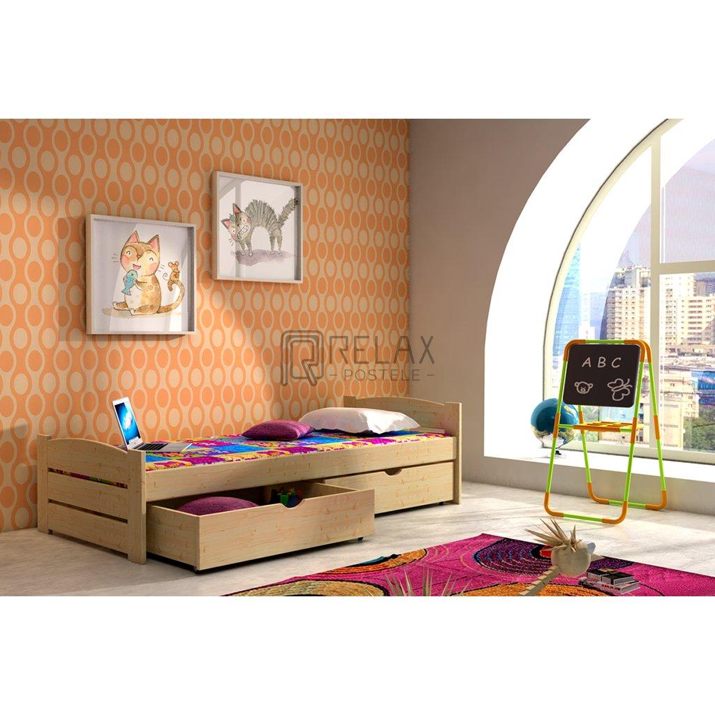 Dětská postel s úložným prostorem Olek