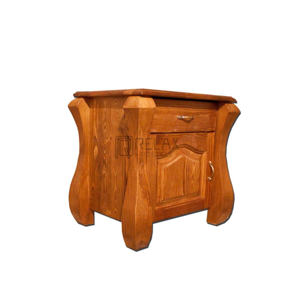 Noční stolek Ludvík - masiv borovice