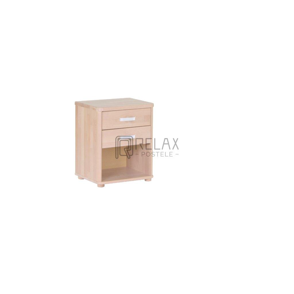 Bukový noční stolek ROBIN (Moření HP Antracit)