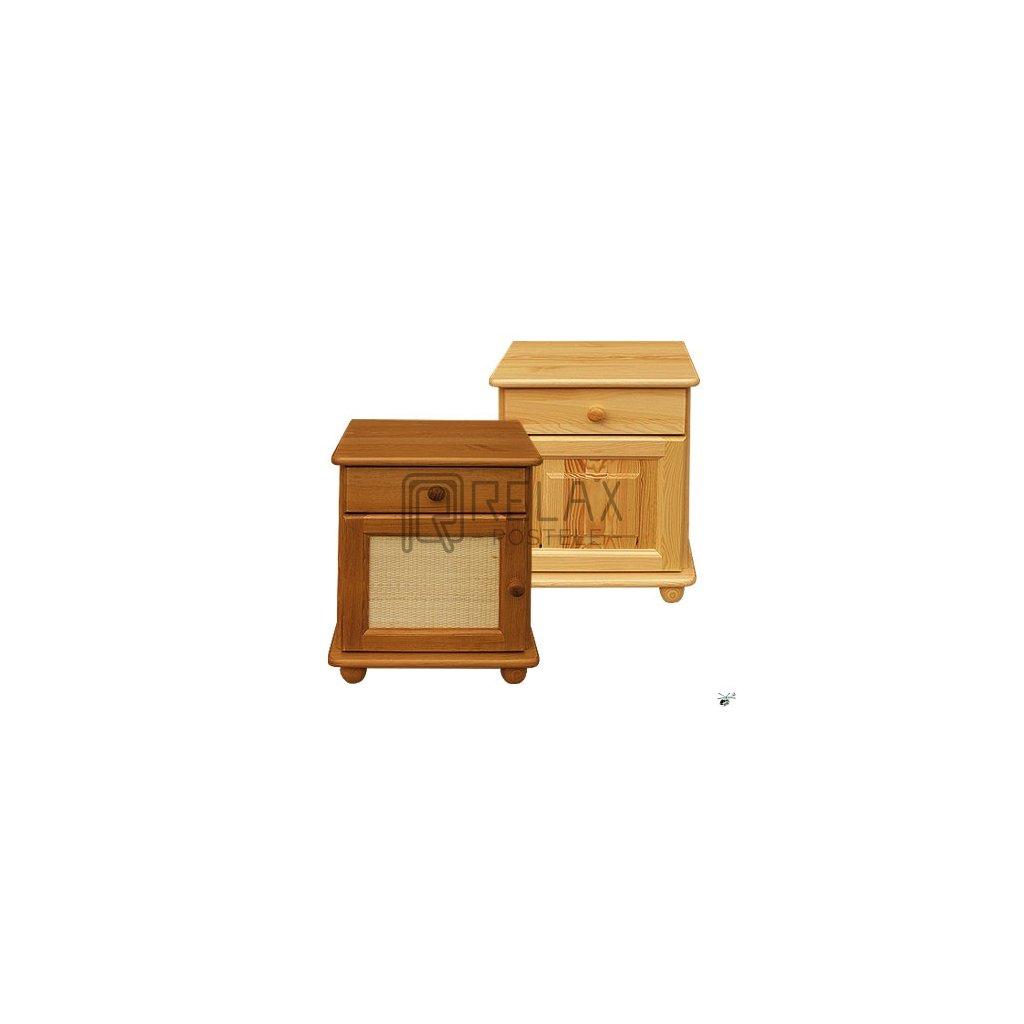 Noční stolek 215 - masiv borovice