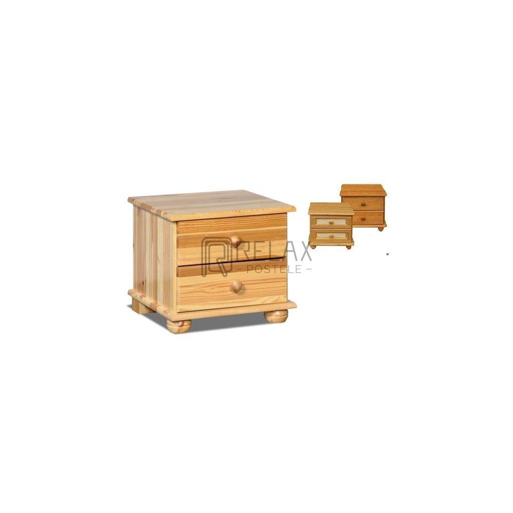 Noční stolek 216 - masiv borovice