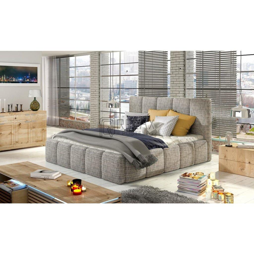 Čalouněná postel s úložným prostorem Edvige - Berlin 01