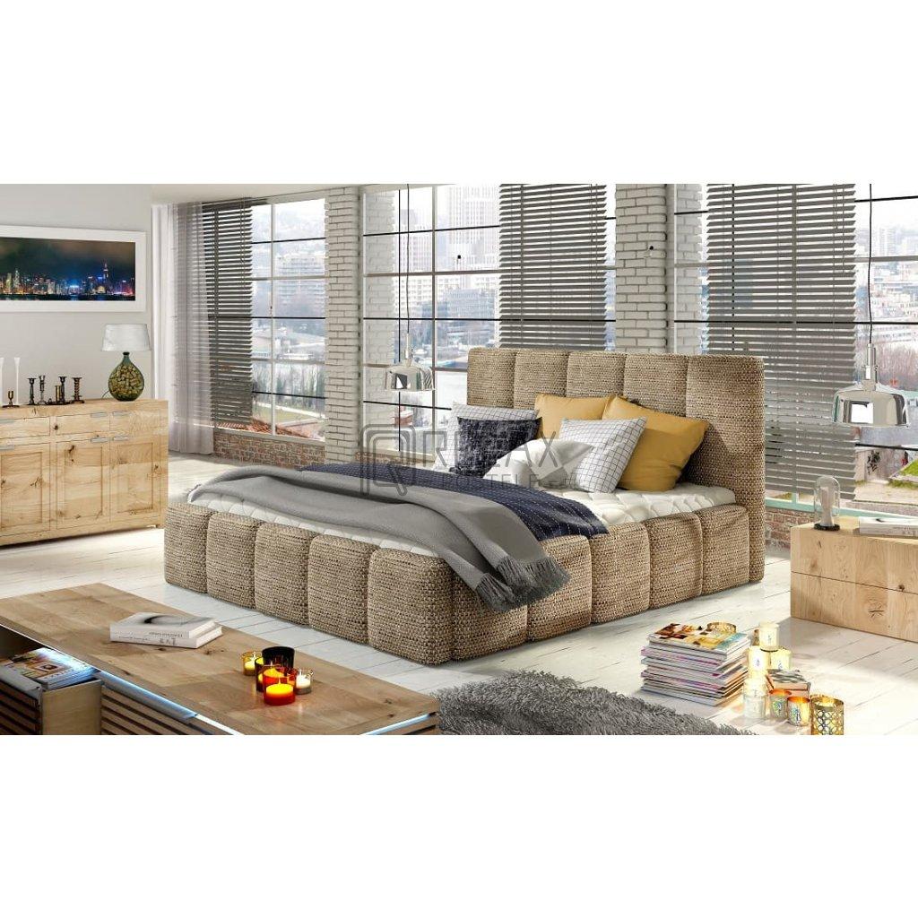 Čalouněná postel s úložným prostorem Edvige - Berlin 03