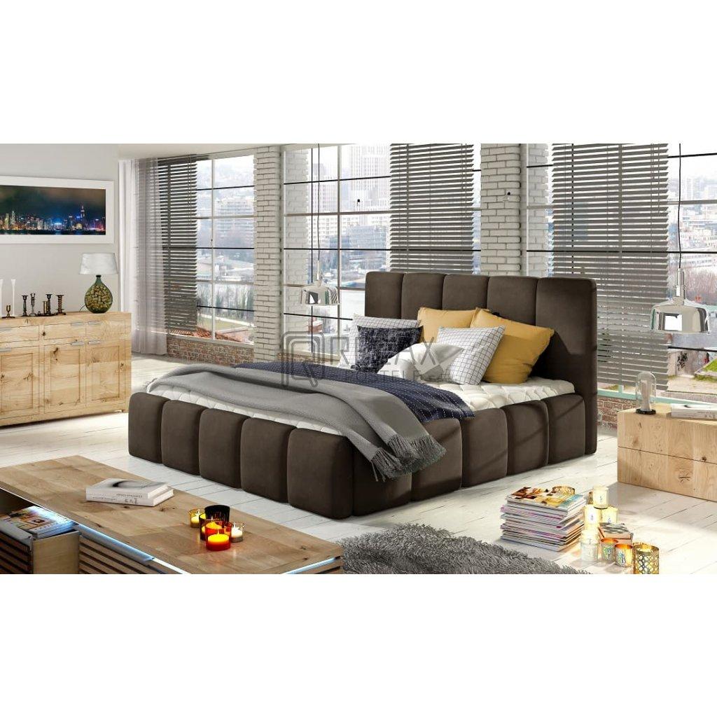 Čalouněná postel s úložným prostorem Edvige - Jasmine 29