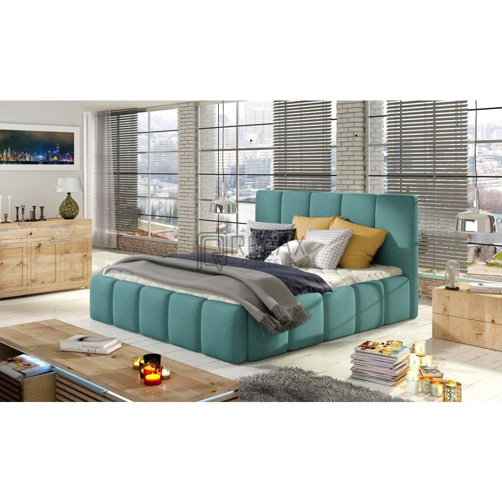 Čalouněná postel s úložným prostorem Edvige - Ontario 83