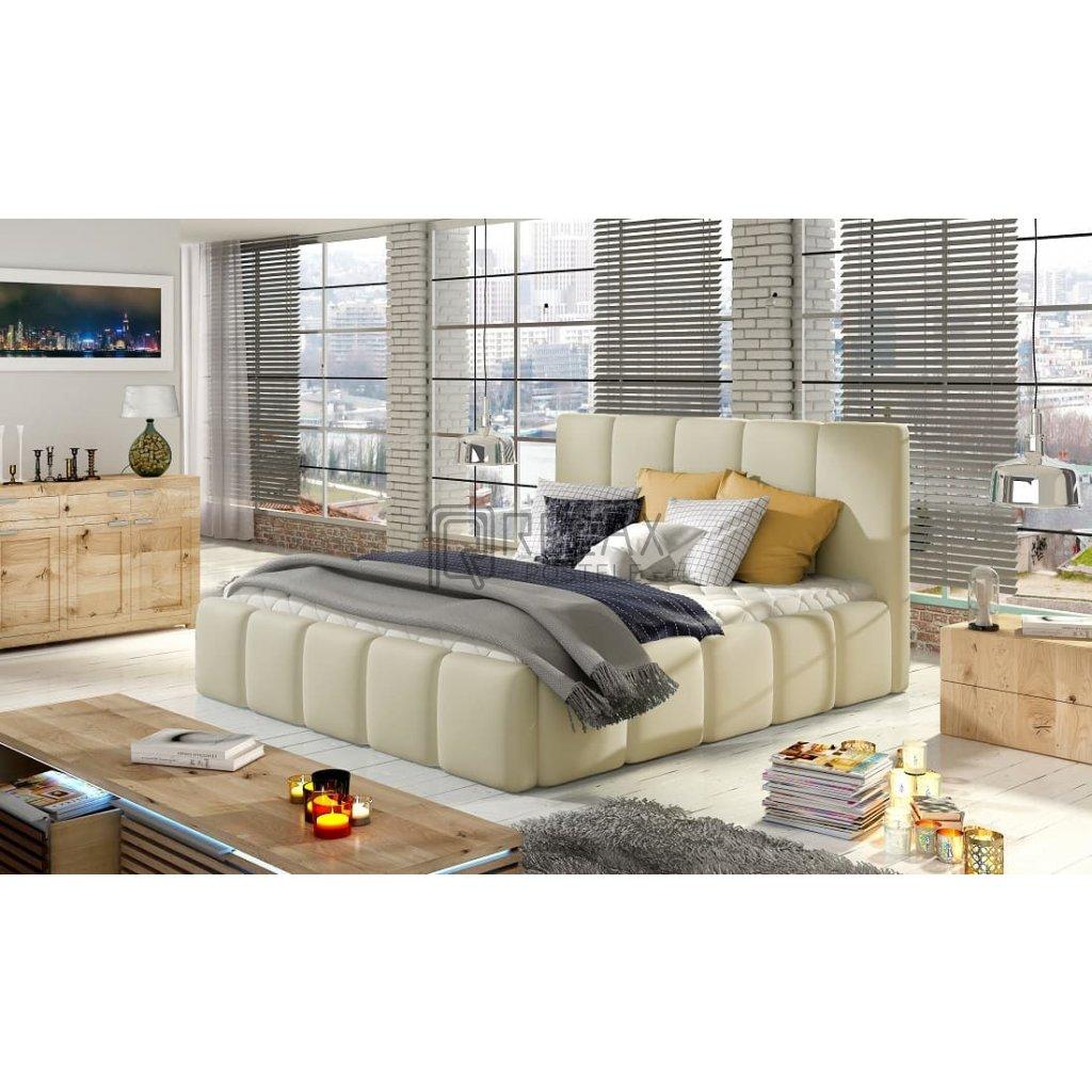 Čalouněná postel s úložným prostorem Edvige - Soft 33