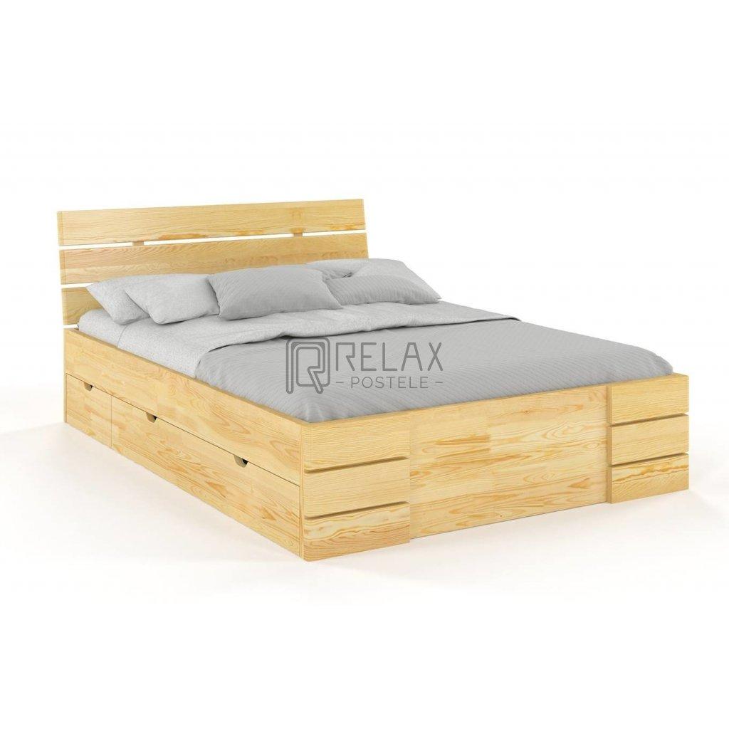 postel sandemo drawers borovice