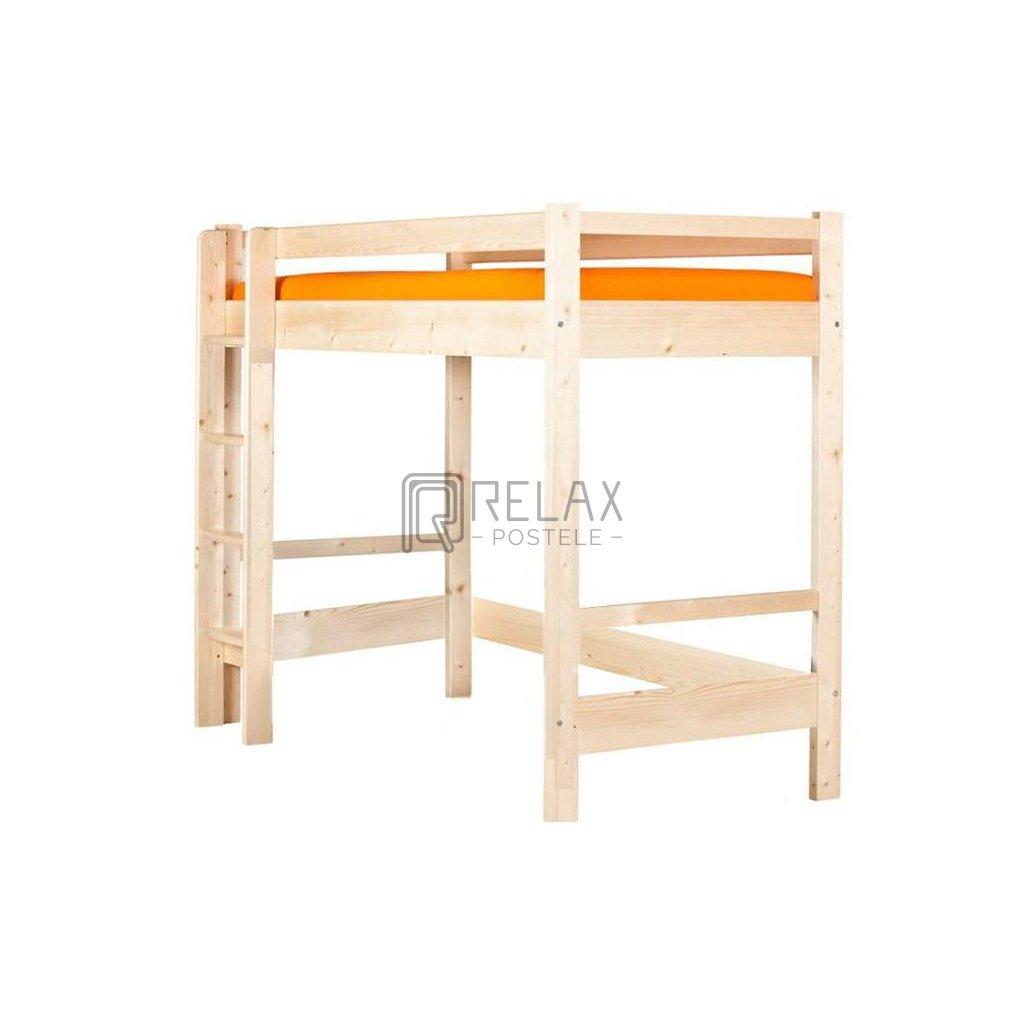 Patrová postel Edita horní spaní - smrk (Rozměr 80x200, Moření HP Smrk)