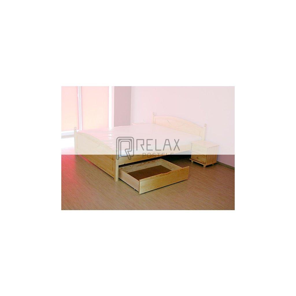 Úložný prostor UNI - 100x80 cm  masiv borovice (Moření úp. Moření úp. / Bílá barva)