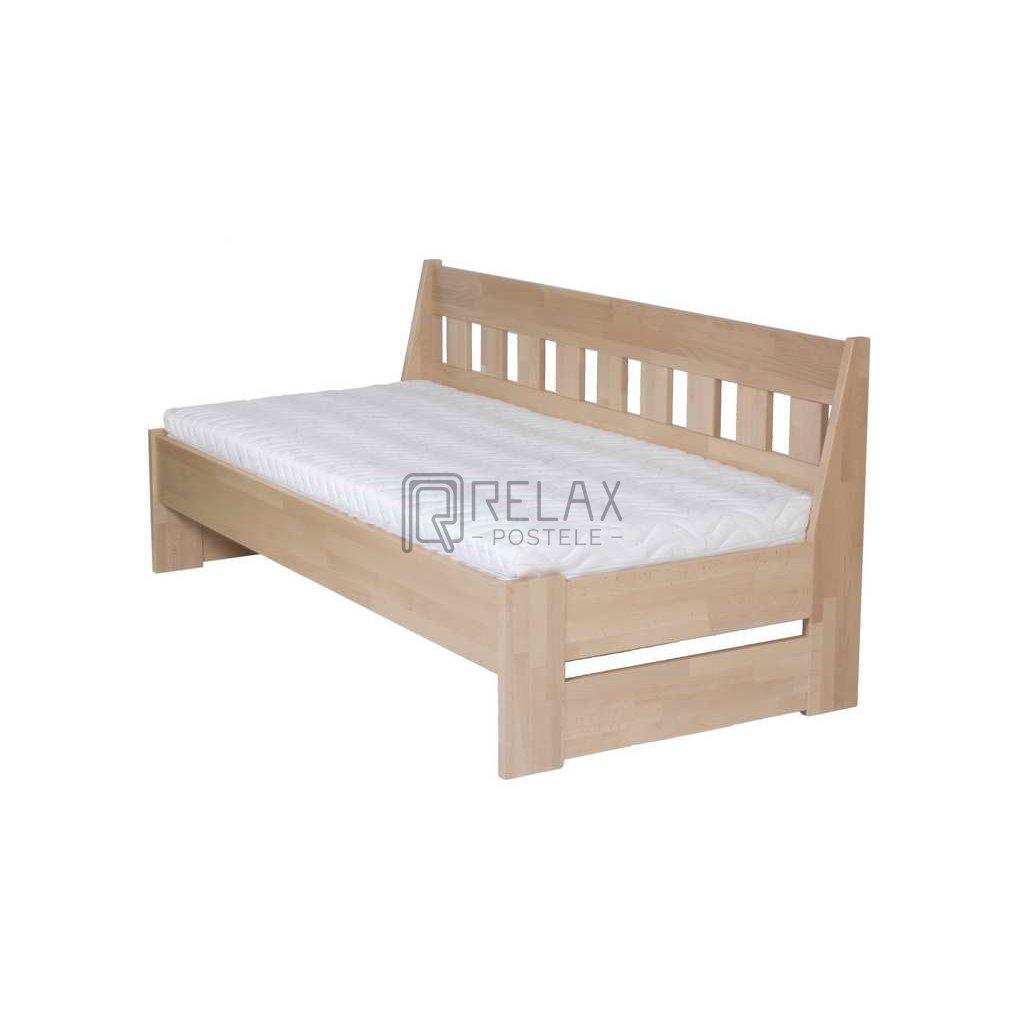 Postel - jednolůžko Arleta senior buk (lavice) (Rozměr 90x200, Moření HP Buk přírodní)