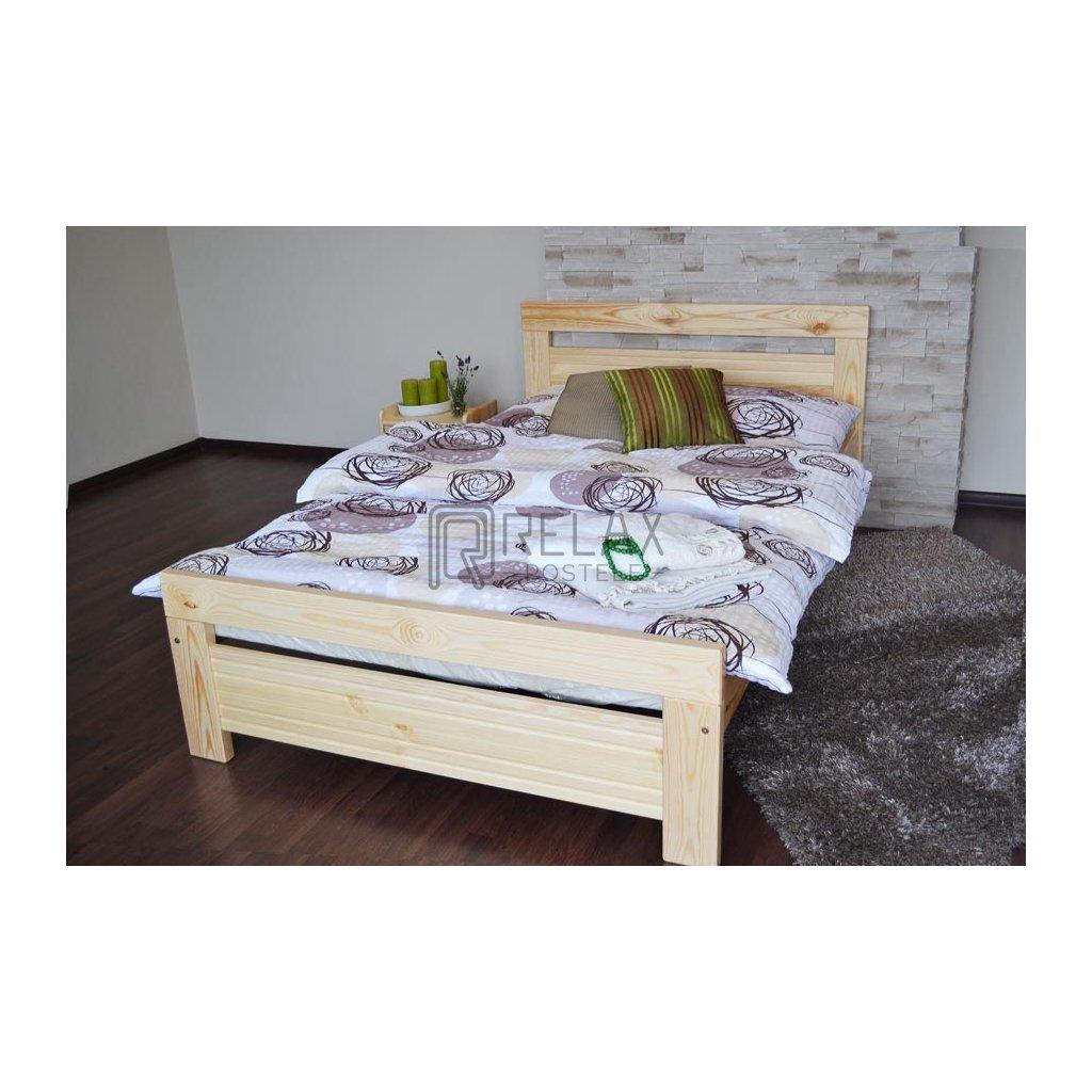 Postel Savona - 80x200 (Laťkový rošt Laťkový rošt / 80x200 cm 1 ks - 14 lamel, Moření postele Moření postele / Bílá barva)