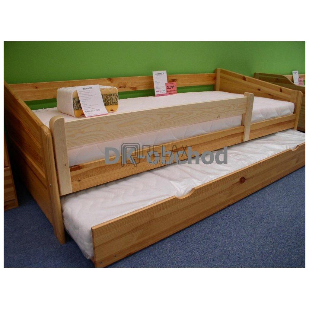 Zábrana na postel 120 borovice na bočnice 3,5cm (Moření úp. Moření úp. / Borovice)