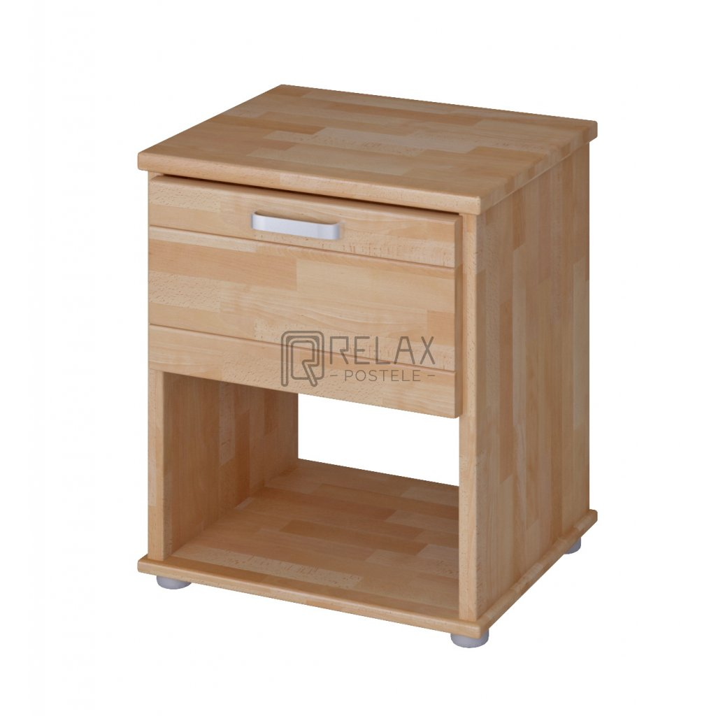 Noční stolek Sigma - masiv BUK (Moření HP Antracit)