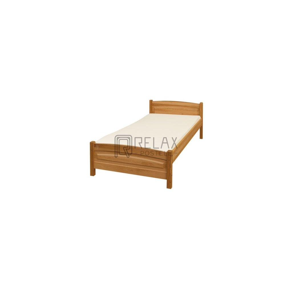 Postel 111 (90 x 200) AKCE (Laťkový rošt Laťkový rošt / 90x200 cm - 14 lamel, Moření postele Moření postele / borovice)
