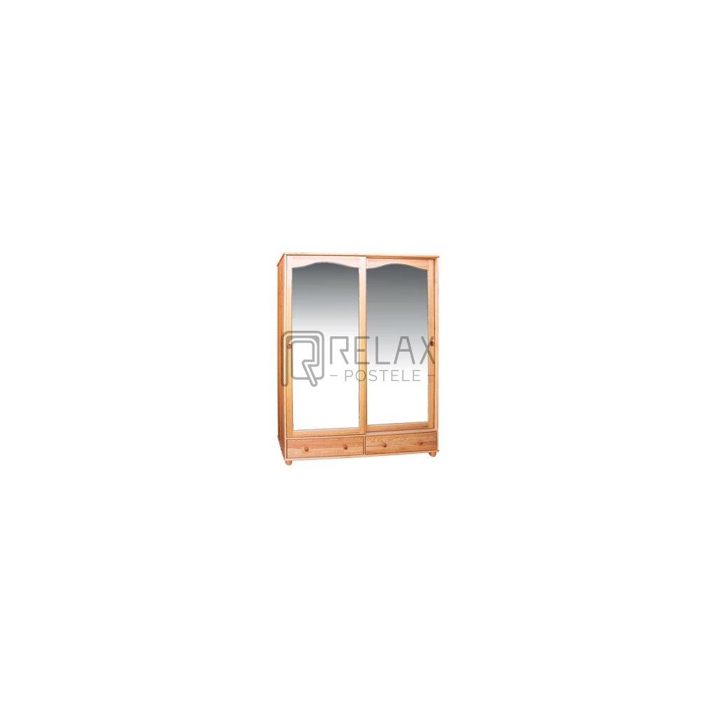 Šatní skříň 6 - masiv borovice