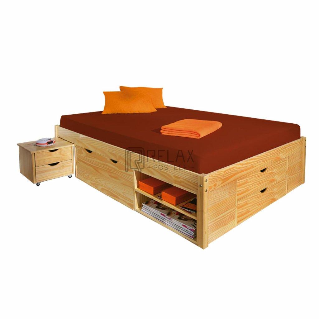 7443 manzelska postel s uloznym prostorem klara 160x200