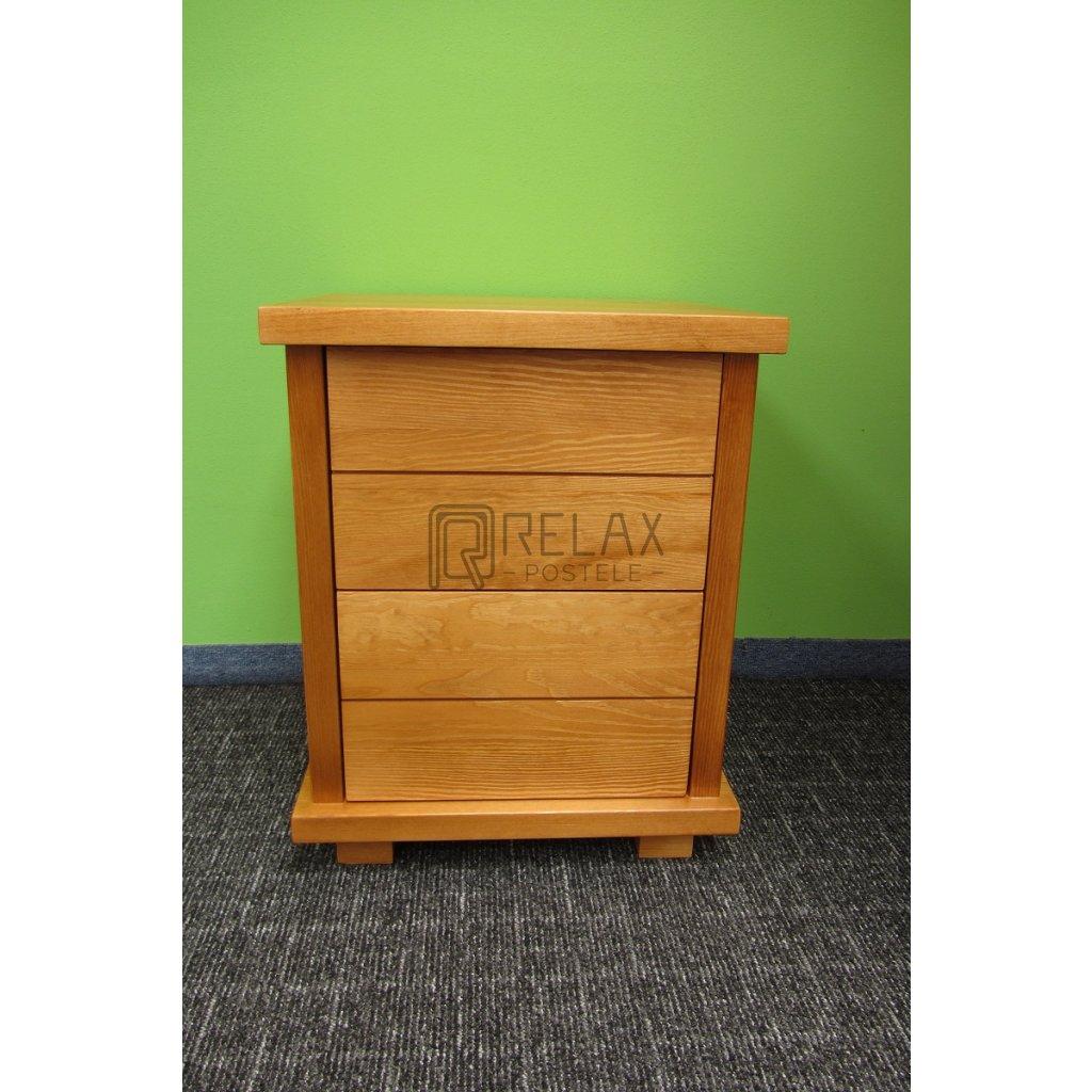 Noční stolek Mega Supra - masiv borovice (Moření úp. Moření úp. / Bílá barva)