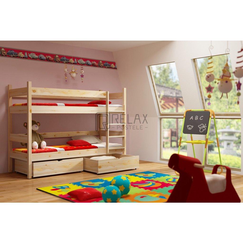 Patrová postel s úložným prostorem Elegant