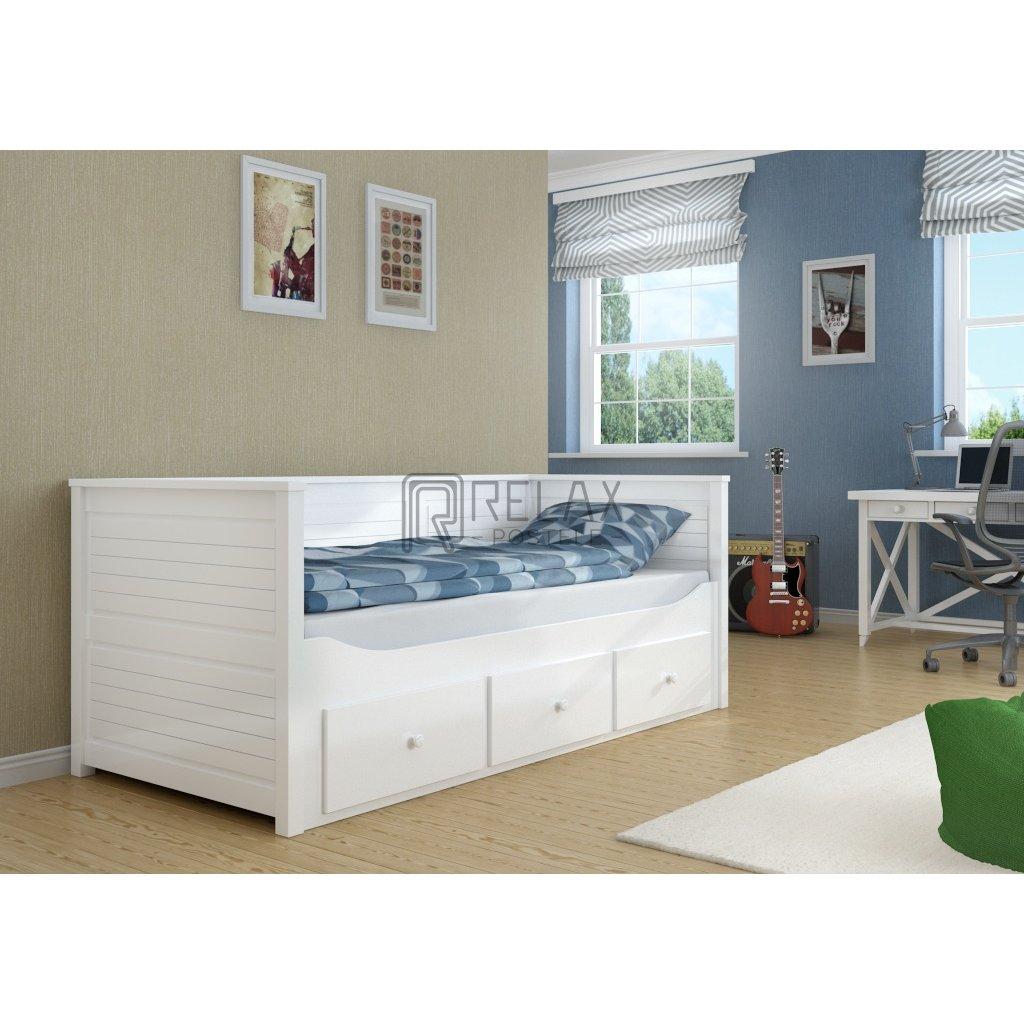 Rozkládací postel s úložným prostorem Melani duo 90 - 180 x 200 cm