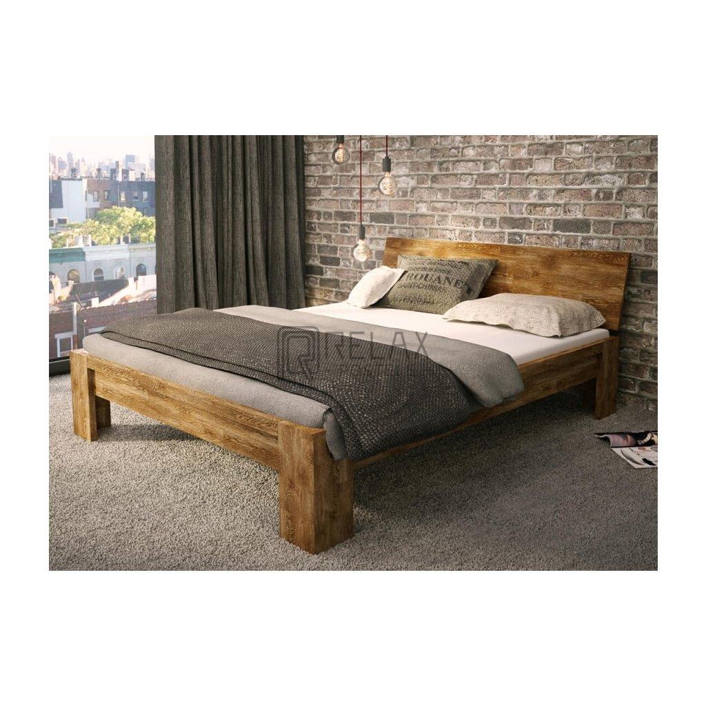 Dubová postel Rustika