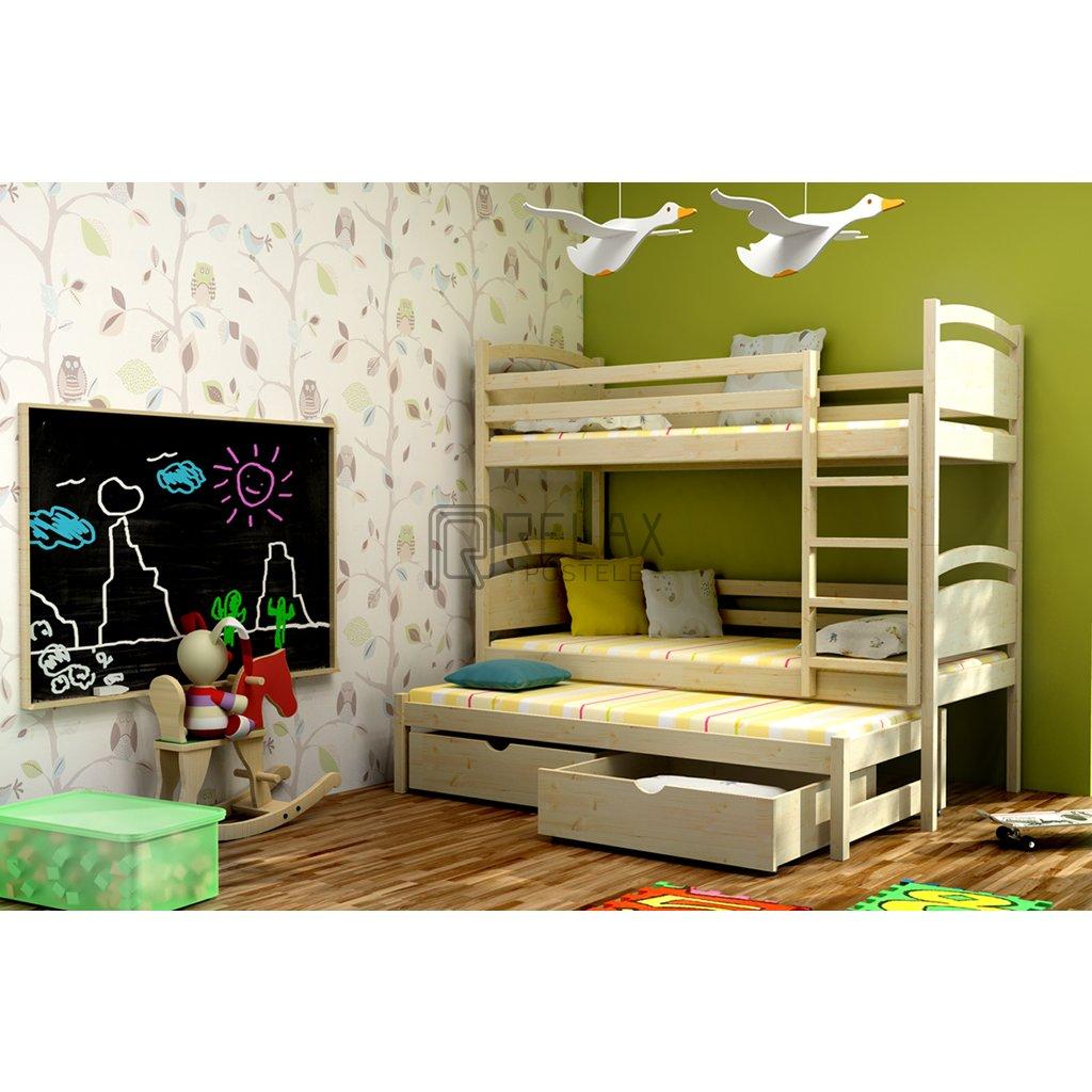 Patrová postel pro tři Mája 2