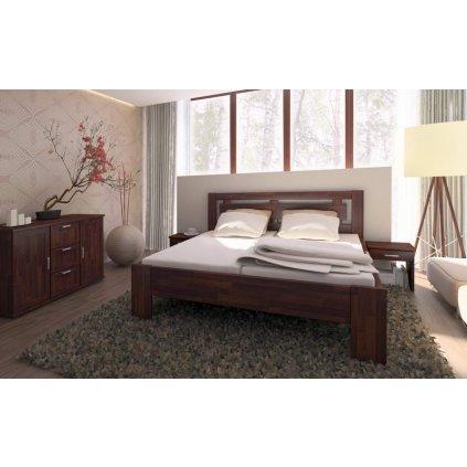 Manželská zvýšená postel Naomi Supra - masiv buk