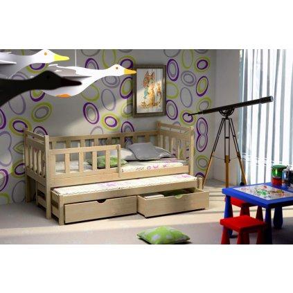 Dětská postel s přistýlkou Puchatek