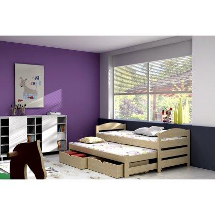 Dětská postel s přistýlkou Olunia