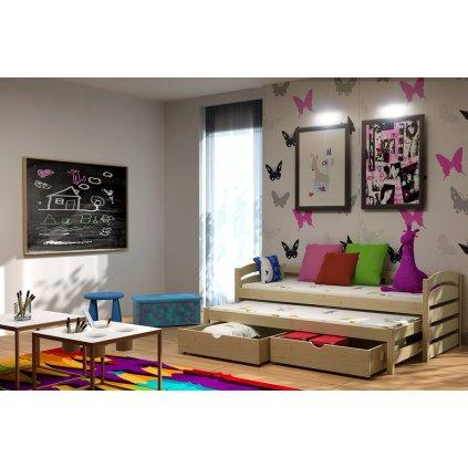 Dětská postel s přistýlkou Monika