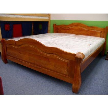 Manželská postel Ludvík - masiv borovice