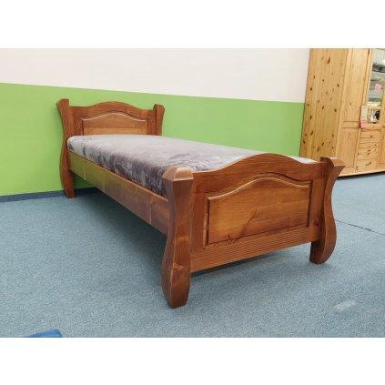 Postel Ludvík - 120x200 cm (Laťkový rošt Laťkový rošt / 120x200 cm - 14 lamel, Moření postele Moření postele / borovice)