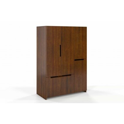 skříň z masivu borovice bergman 3d5s ořech