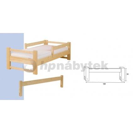 Zábrana na postel 120 smrk (Moření HP Antracit)