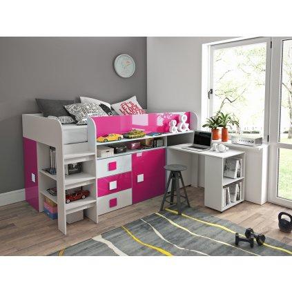 Patrová postel Toledo 1 růžová