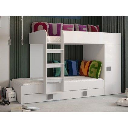 Patrová postel Toledo 2 růžová