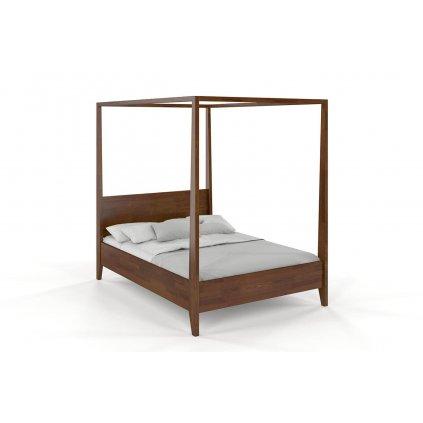 zvýšená postel canopy borovice ořech