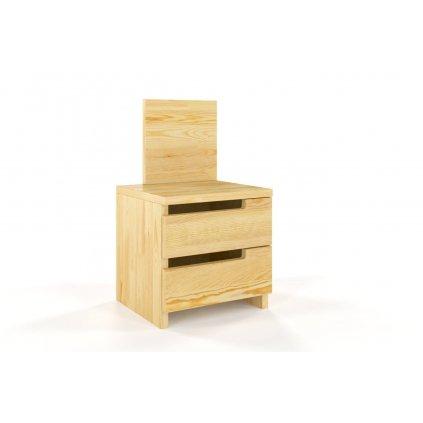 zvýšený noční stolek z masivu borovice bergman borovice1