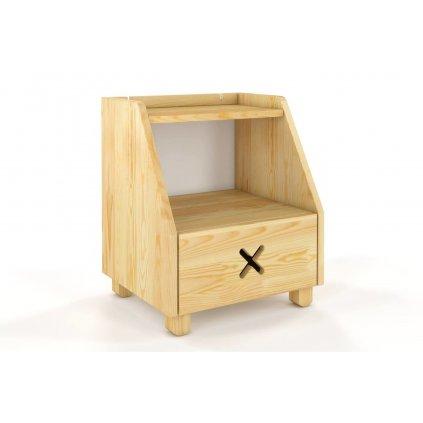 nošní stolek z masivu borovice Ustka borovice1