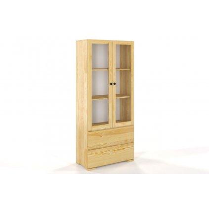 vitrina z masivu borovice sandemo 2s80 borovice