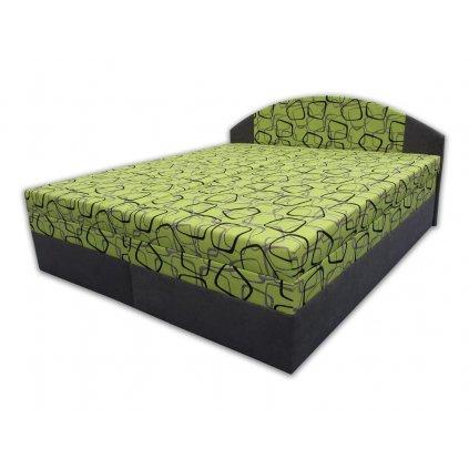 Čalouněná postel s úložným prostorem - Vanda - zelená