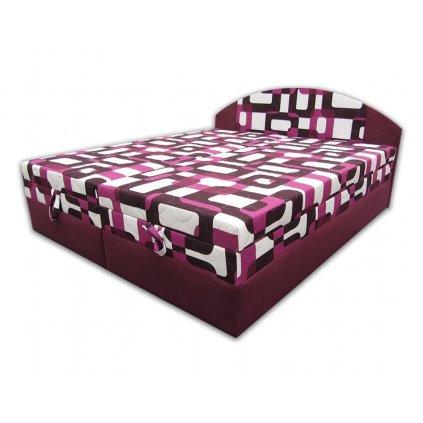 Čalouněná postel s úložným prostorem - Vanda - fialová
