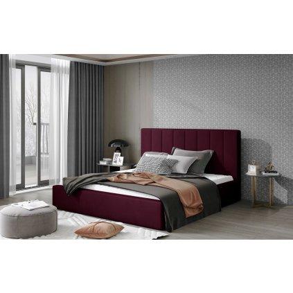 Čalouněná postel Audrey - Mat Velvet 68