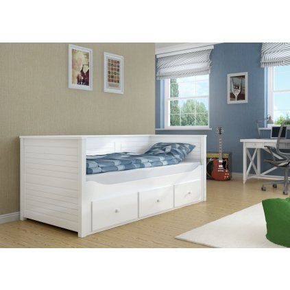 Rozkládací postel s úložným prostorem Melani duo včetvě matrací