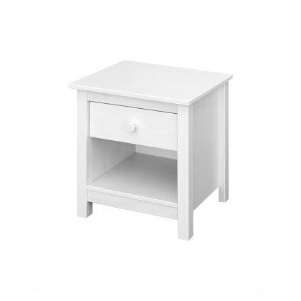 noční stolek torino 2 bílý