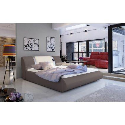 Čalouněná postel s úložným prostorem Flavio - Soft 929/33