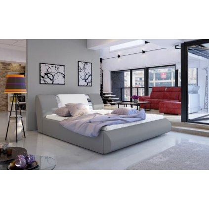 Čalouněná postel s úložným prostorem Flavio - Soft 985/17