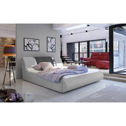 Čalouněná postel s úložným prostorem Flavio - Paros 05/06